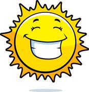 Sun Smiling - stock illustration