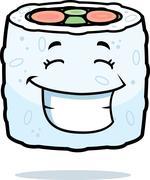 Sushi Smiling Stock Illustration