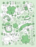 Irish Doodle - stock illustration