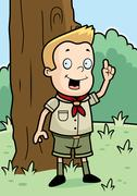 Scout Woods Stock Illustration