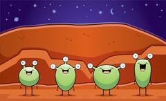 Little Martians Stock Illustration