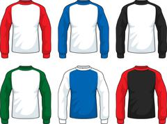 Long Sleeve Shirts - stock illustration