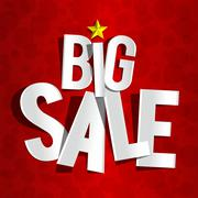 Big Sale On Red Background - stock illustration