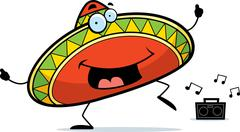 Sombrero Dancing - stock illustration