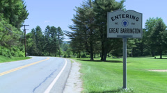 Entering Great Barrington (1 of 2) Stock Footage