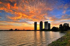Sunset at Putrajaya Stock Photos