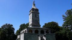 Bismarck tower at lake starnberg Stock Footage