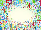 Stock Illustration of  background from numbers