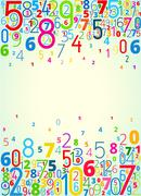 Background from numbers Stock Illustration