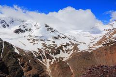 Caucasus mountains dombai Stock Photos