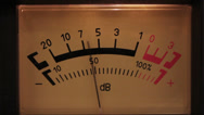 Stock Video Footage of decibel meter with backlit - part of sound equipment