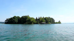 Island, roseninsel lake starnberg Stock Footage