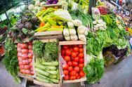 Stock Photo of fruits and vegetables at traditional market, san telmo, buenos aires