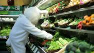Stock Video Footage of Easter bunny shopping for carrots