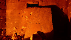 Time Lapse Dolly of Abandon Building Ruins at Night - 4K Stock Footage