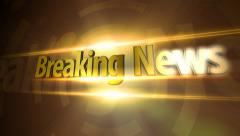 Breaking News - Gold Stock Footage