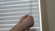 Stock Video Footage of Child proofing blind cords