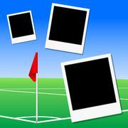 Kuva jalkapallokenttä corner lippu Piirros