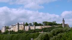 Chateau de Chinon (2) - Chinon, France Stock Footage