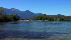 River loisach near kochel Stock Footage