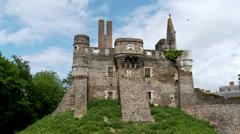 Chateau du Plessis-Mace (1) -  Le Plessis-Mace France Stock Footage