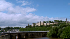 Chateau de Chinon (1) - Chinon, France Stock Footage