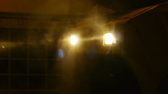 Digger Head lights Stock Footage