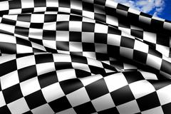 Auto racing chequered flag Stock Illustration