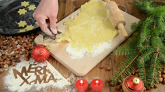 Christmas baking process Stock Footage