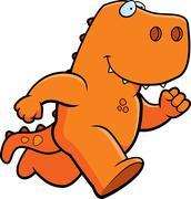 Dinosaur Running Stock Illustration