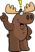 Moose Idea - stock illustration