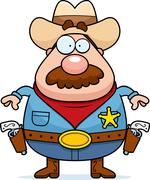 Cartoon Sheriff - stock illustration