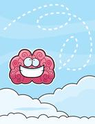 Head in Clouds - stock illustration