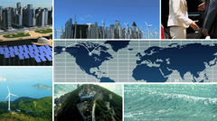 CG video montage environmental Asian business renewable energy Stock Footage