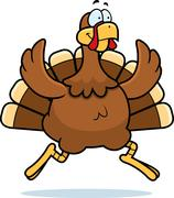 Turkey Running - stock illustration