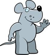 Rat Waving - stock illustration