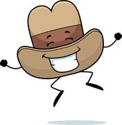 Cowboy Hat Jumping Stock Illustration