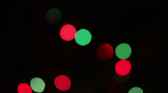 Defocused colored circular lights backgrounds - dolly shot Stock Footage