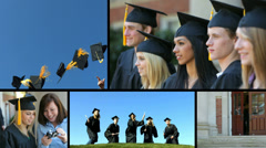 Graduation, video montage - stock footage