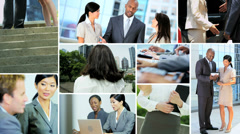Video montage business experts touch screen technology Stock Footage