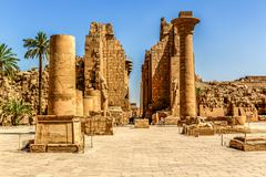 temple complex of karnak in luxor egypt - stock photo