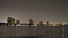 Bayshore Blvd. Tampa time lapse night Stock Footage