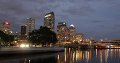 Tampa skyline time lapse 4K (4096 x 2160) Stock Footage