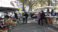 Stock Video Footage of Market in Antwerp, Belgium