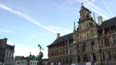 City Hall (Stadhuis) Antwerp, Belgium Stock Footage