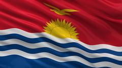 Flag of Kiribati Stock Illustration