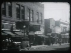 Downtown 1930s Storefronts (16mm film) Stock Footage