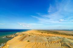 desert and sea - stock photo