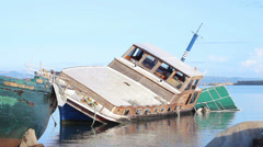 Shipwrecks - ships and boats Stock Footage