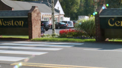 Weston town shopping center (1 of 2) - stock footage